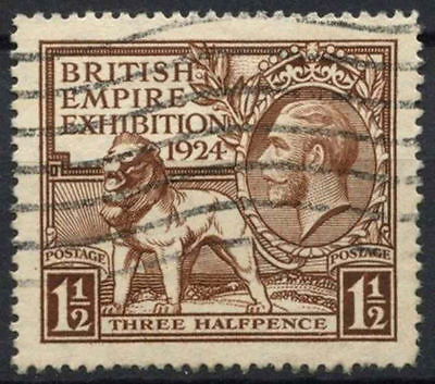 GB KGV 1924 SG#431, 1.5d British Empire Exhibition Wembley Used #D7994