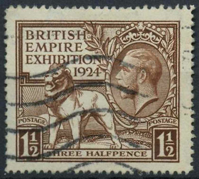 GB KGV 1924 SG#431, 1.5d British Empire Exhibition Wembley Used #D7997