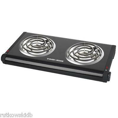 Black & Decker 120V 1500-Watt Electric Double Burner Buffet Range