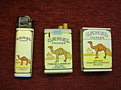 3 Different Camel Promo Cigarette Lighters - Nice Condition - Have A Look