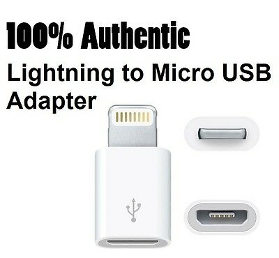 Genuine Original OEM APPLE Lightning to Micro USB Adapter Converter MD820AM/A