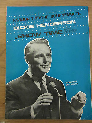 1968 Dickie Henderson Theatre Programme Bournemouth Collectable Classic Music
