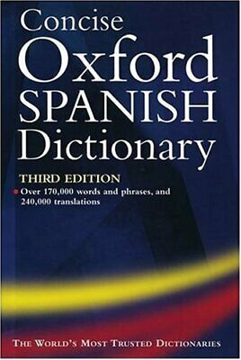 Concise Oxford Spanish Dictionary Hardback Book The Cheap Fast Free Post