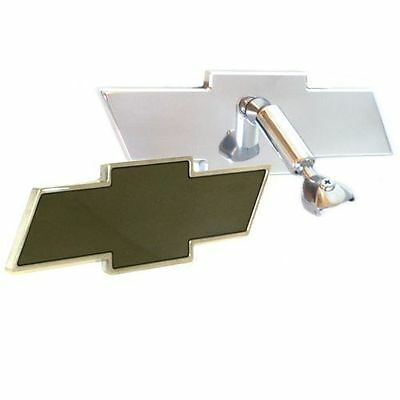 All Sales 87394P Rear View Mirror Polished 8 in. Bowtie Fits 77-85 Chevy