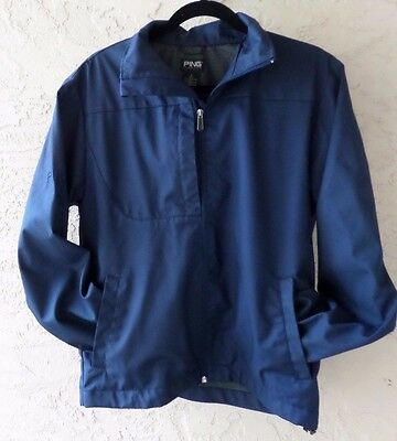 Ping Collection Mens Golf Full Zip Jacket Navy Blue Mens Size Small