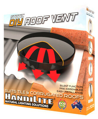 Roof Vent Static Silent DIY - Tile & Corrugated Iron - Whirly Bird replacement