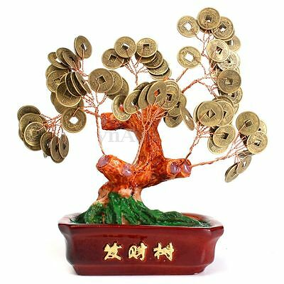 Chinese Feng Shui Money Tree Coin Buddhist Fortune Wealth Lucky Peace Home Decor