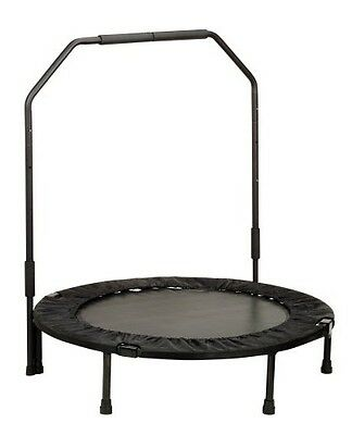 Fitness Trampoline w Support Bar Folding Exercise Equipment Gym Workout Gear New
