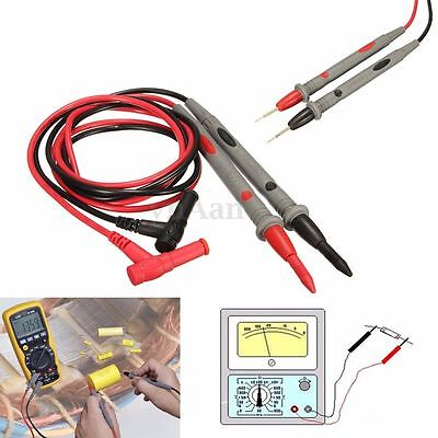 20A 1000V Universal Digital Multimeter Test Lead Probe Wire Pen Cable Needle Tip