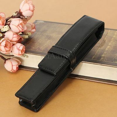 Luxury Black Color PU Leather Fountain Roller 1 Pen Pouch Bag Single New