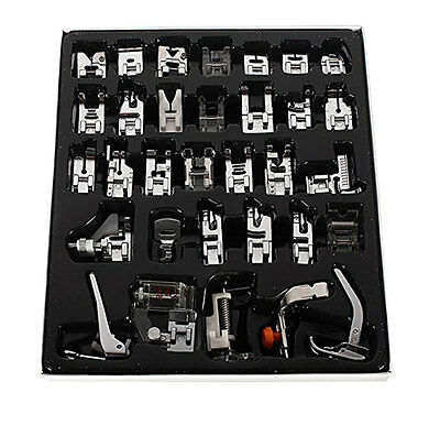 32pcs Domestic Sewing Machine Presser Foot Set Kit For Janome Brother Singer Top