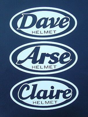 CUSTOM ARAI STYLE HELMET STICKER WITH YOUR OWN NAME rx7