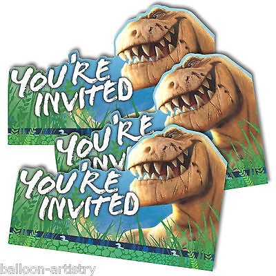 8 Disney's The Good Dinosaur Movie Birthday Party Invitations plus Envelopes