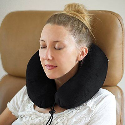 daydream Extra Soft Travel Neck Pillow with Memory Foam, Black