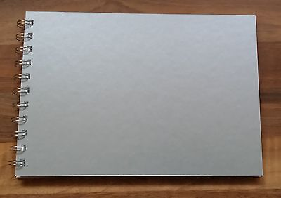Silver Pearl Mountboard Scrap Book / Guest Book / Photo Album A5 Size 20 Pages