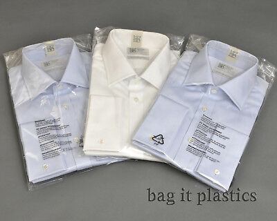 Clear Polythene Plastic Garment Shirt Bags Resealable Dry Cleaners Clothes Bags