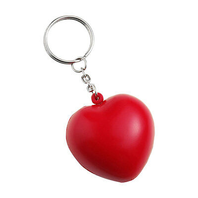 Red Anti Stress Heart Key Ring Reliever ADHD Autism Keyring Chain Love Ball Gift