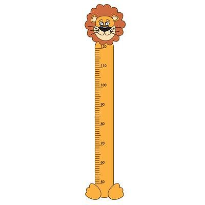 Lion Childrens Growth Height Chart Bedroom Wall Sticker Kids Vinyl Decal