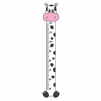 Cow Childrens Growth Height Chart Bedroom Wall Sticker Kids Vinyl Decal