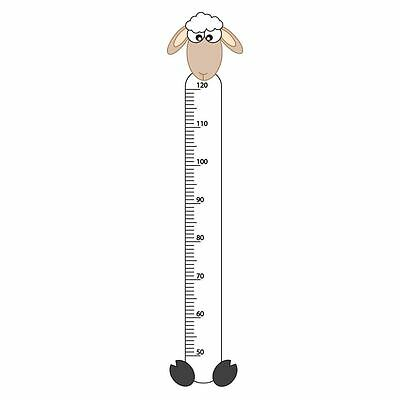 Sheep Childrens Growth Height Chart Bedroom Wall Sticker Kids Vinyl Decal