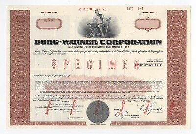 SPECIMEN - Borg-Warner Corporation Stock Certificate