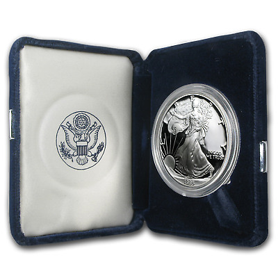 1995-P 1 oz Proof Silver American Eagle (w/Box & COA) - SKU #1069