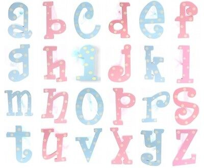 Girl/boy Kids Wooden Hanging Letters Personalised Name Nursery Door Signs/plaque