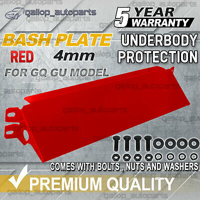 Red Bash Plate Steering Guard Fit for Nissan GQ GU Patrol 4mm PREMIUM QUALITY