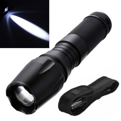 6000LM Zoomable Focus XML T6 LED Flashlight 26650 /18650 /AAA Torch with Holster