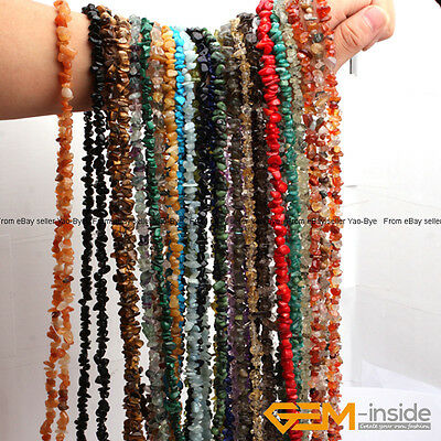 """5-8mm Freeform Chips Gemstone Nugget Loose Beads For Jewellery Making 15"""" & 34"""""""