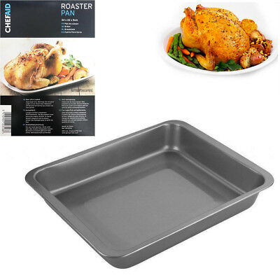 19CM Chicken Roasting Tin Standing Rack Holder Non-Stick Oven Roast BBQ Griller