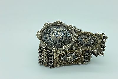 Antique Original Silver Ottoman Islamic Amazing Ottoman Niello Belt