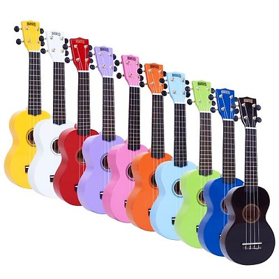 Mahalo Ukulele - Soprano Uke MR1 - 2511 - Aquila Strings & Bag