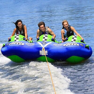 SportsStuff High Roller 3 Rider Inflatable Water Tube Boat Tow Towable 53-3030
