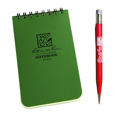 Rite In The Rain 935 All-Weather Notebook with RD99 Mechanical Red Lead Pencil