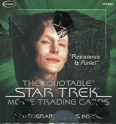 Star Trek Quotable Movie Sealed Wax Card Box 24ct 3 Autograph Cards