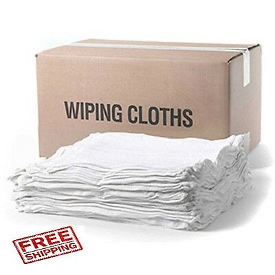 (2) 5 lb. boxes new cotton terry cloth cleaning rags 12 x 12 dispenser box