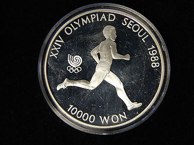 1988 South Korea 10,000 Won Silver Proof - Olympic Runner