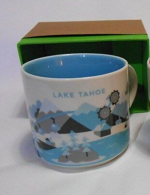 Lake Tahoe NEW Starbucks Coffee Tea Cup Mug 14oz You Are Here Collection 2015