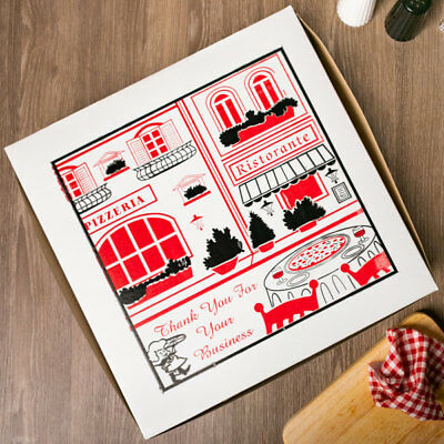 """16"""" x 16"""" x 2"""" Clay Coated Pizza Box - 100 / Bundle -  FAST Shipping !"""