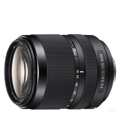 NEW Sony DT 18-135mm f/ 3.5-5.6 Telephoto Zoom Lens with 1 Year Warranty BLACK
