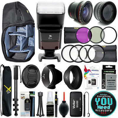 Nikon D3400 D3300 D3200 Digital SLR Camera Everything You Need Accessory Kit 52m