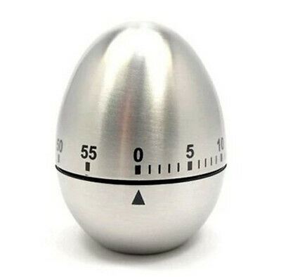 Stainless Steel mechanical Egg Kitchen Cooking Countdown 60 Minutes Alarm Timer