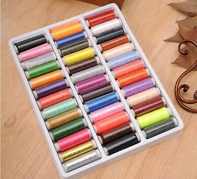 39 Spools Of Difference Colors Sewing Threads For Machine & Hand Embroidery Tool