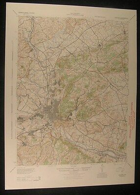 Reading Pennsylvania Birdsboro Mohnton 1944 vintage USGS original Topo chart map
