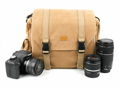 Tan-Brown Canvas Camera Bag for Nikon CoolPix S7000 / P610 / L840 / AW130 / S33