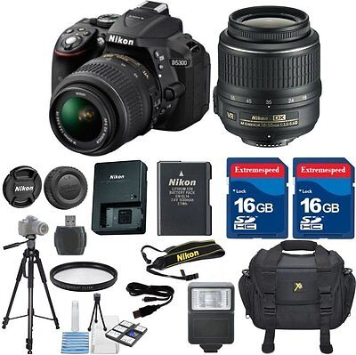Nikon D5300 24.2 MP CMOS Digital SLR Camera +18-55mm VR Lens