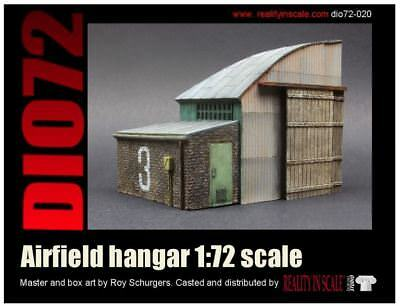 Reality In Scale 1:72 Airfield Hangar - Resin DIorama Accessory #72020