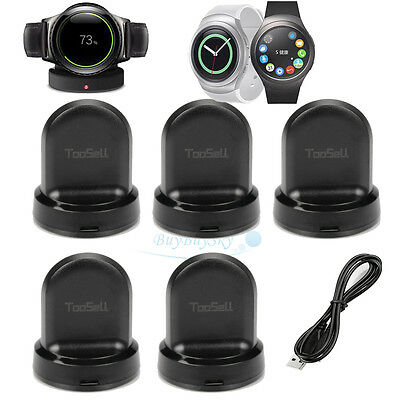 5x Qi Wireless Charging Dock Cradle Charger For Samsung Gear S2 Smart Watch USA