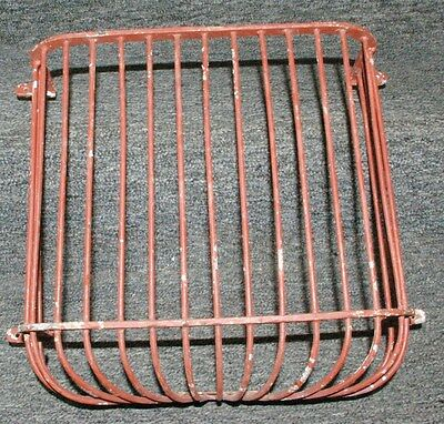 Early Steel Northern Pacific Railroad  Bathroom Waste Paper Brass Cage Pullman
